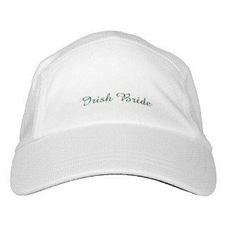 """Irish Bride""Custom Knit Performance Hat, White Hat"