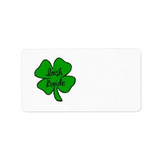 Irish Bride Label