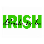 Irish Bride To Be Post Card
