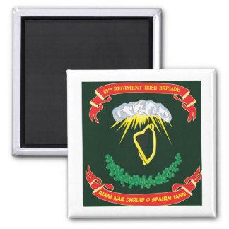 Irish Brigade 2 Inch Square Magnet