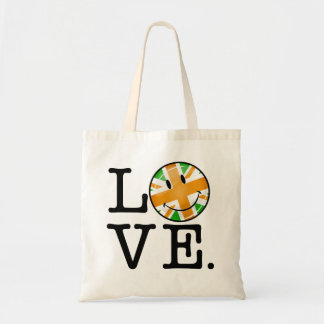 Irish British Flag Love Tote Bag