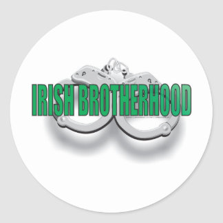 IRISH BROTHERHOOD CLASSIC ROUND STICKER