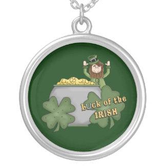 Irish Buck Round Pendant Necklace