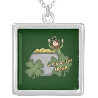 Irish Buck Square Pendant Necklace
