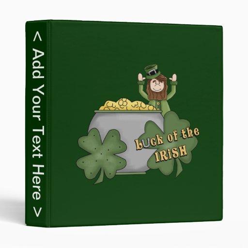 Irish Buck Vinyl Binder