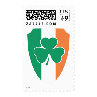 Irish Buckler Shamrock Postage Stamp
