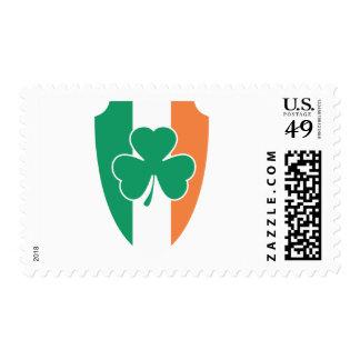 Irish Buckler Shamrock Stamp
