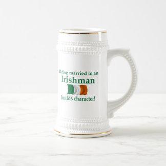 Irish Builds Character Beer Stein