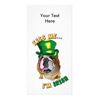 Irish Bulldog Photo Card