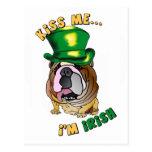 Irish Bulldog Postcard