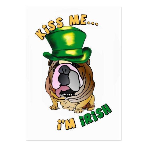 Irish Bulldog Profile Business Cards