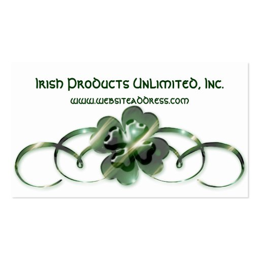 Irish Business Card :: Double Shamrock Design G1