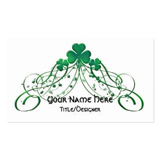 Irish Business Card :: Irish Clover & Vines D1
