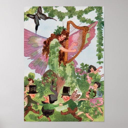 Irish Butterfly Fairy Poster Print