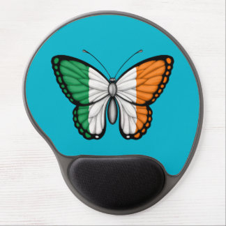 Irish Butterfly Flag on Green Gel Mouse Pads