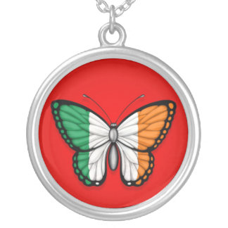 Irish Butterfly Flag on Red Custom Jewelry