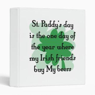 Irish buy my beer binder