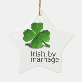 Irish by marriage design ceramic ornament