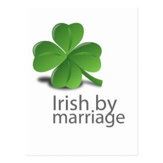 Irish by marriage design postcard