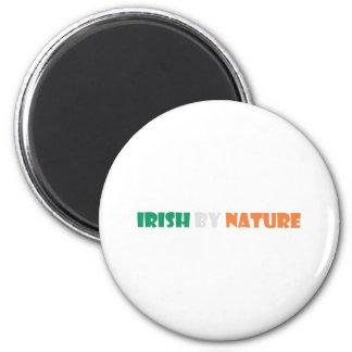 irish by nature 2 inch round magnet