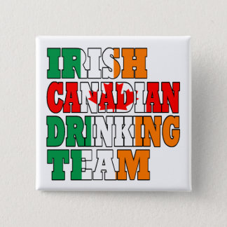 Irish Canadian Drinking Team Button
