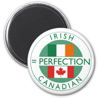 Irish Canadian Heritage Flags 2 Inch Round Magnet