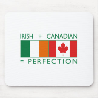 Irish Canadian Heritage Flags 2 Mouse Pad