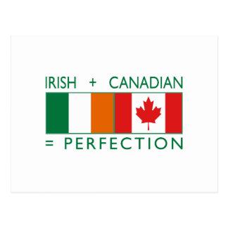 Irish Canadian Heritage Flags 2 Postcard