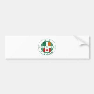 Irish Canadian Heritage Flags Car Bumper Sticker