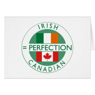 Irish Canadian Heritage Flags Greeting Card