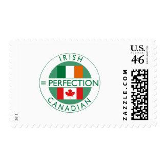 Irish Canadian Heritage Flags Postage Stamp