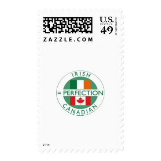 Irish Canadian Heritage Flags Postage Stamps
