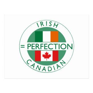 Irish Canadian Heritage Flags Postcard