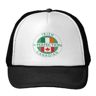 Irish Canadian Heritage Flags Trucker Hat