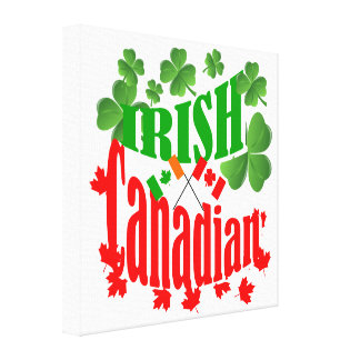 Irish Canadian Stretched Canvas Print