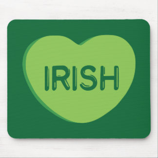 Irish Candy Heart Mouse Pad