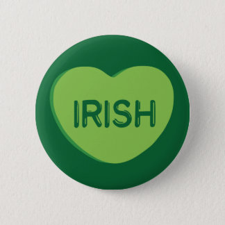 Irish Candy Heart Pinback Button