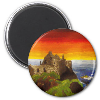 Irish Castle 2 Inch Round Magnet