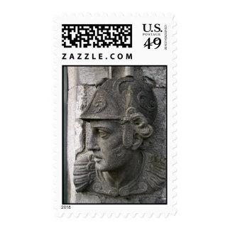 Irish castle bust stamp
