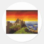 Irish Castle Classic Round Sticker
