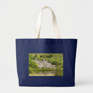 Irish Castle, Kylemore Abbey Large Tote Bag