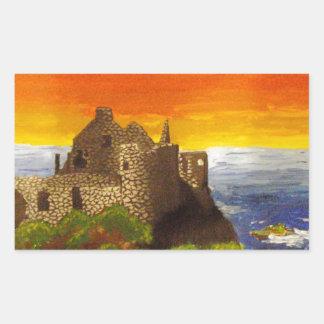 Irish Castle Rectangular Sticker