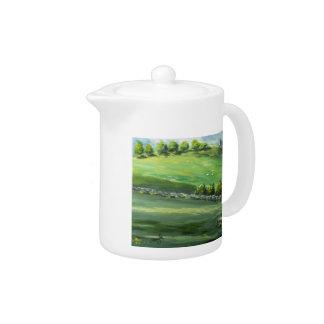 Irish Castle Scene Teapot
