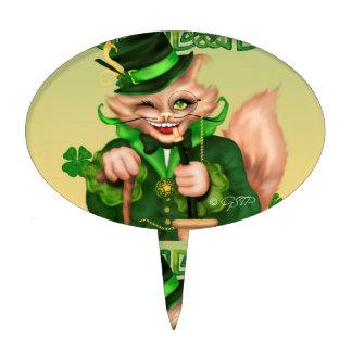 IRISH CAT CARTOON OVAL Cakepick