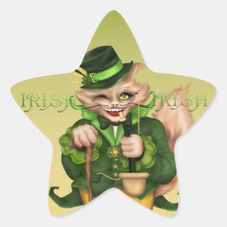 IRISH  CAT CUTE  AutoCollant Square Stickers 5