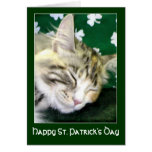 Irish Cat Dreams St. Patrick's Day Greeting Cards