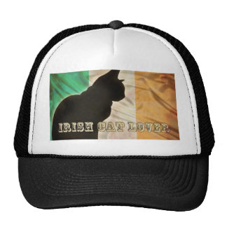 IRISH CAT LOVER TRUCKER HAT