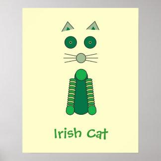Irish Cat Poster