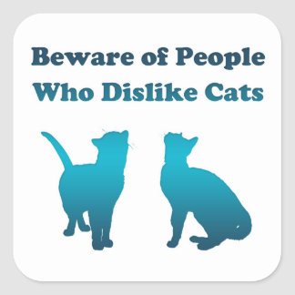 Irish Cat Proverb Square Sticker