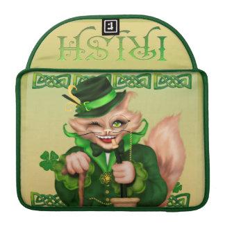 "IRISH CAT ST-PAT Rickshaw Macbook Sleeve 13 """